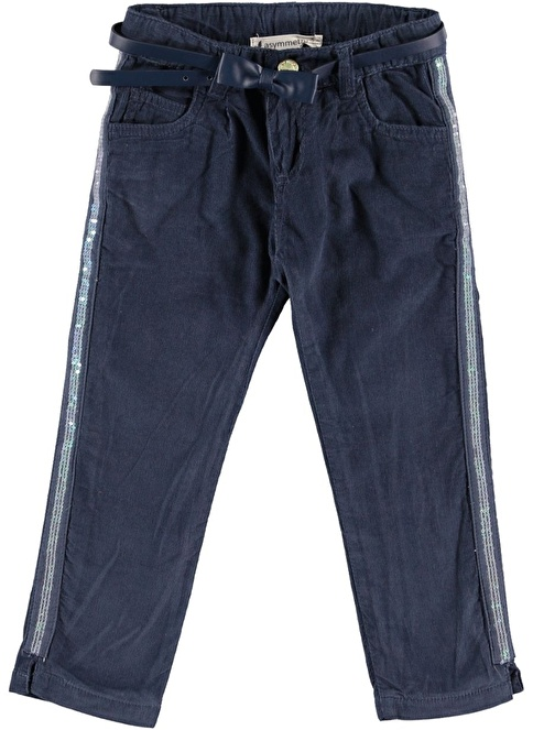 Asymmetry Fitil Kadife Pantolon Lacivert